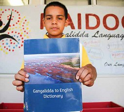 Gangalidda to English dictionary to help the transition to Indigenous language lessons at Burketown State School.